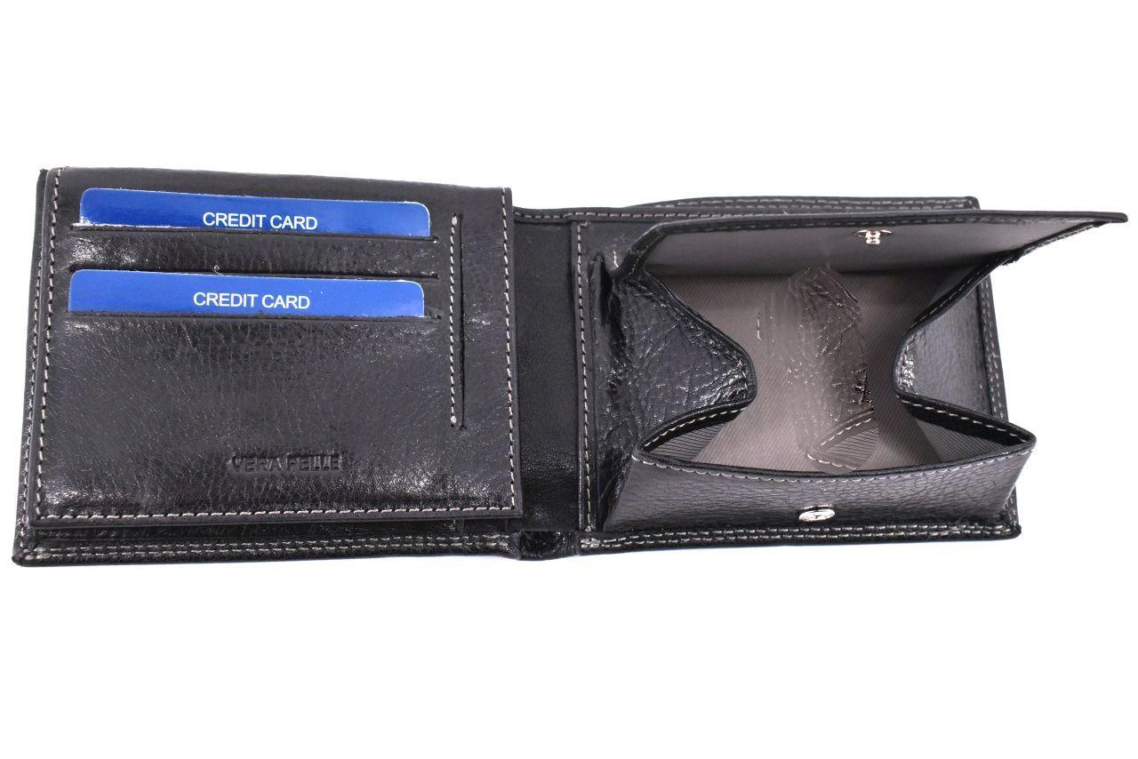 Pánská kožená peněženka Coveri Collection - černá 35477