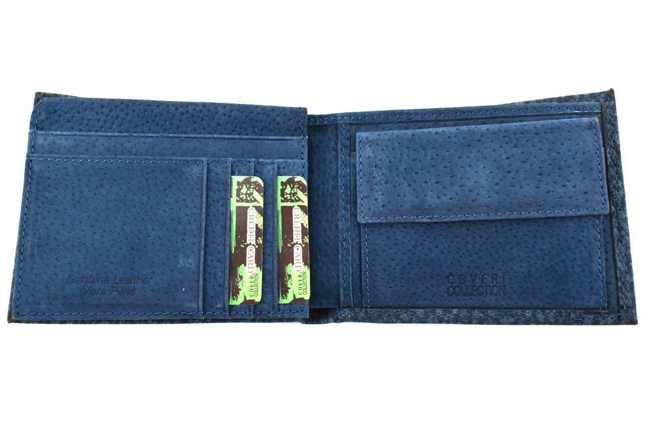 Pánská kožená peněženka Coveri Collection - hnědá 32612