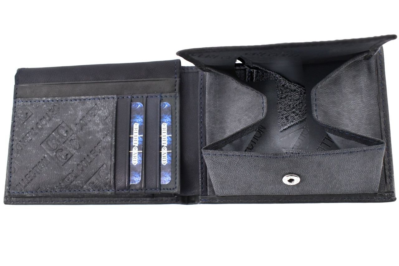 Pánská kožená peněženka Coveri Collection - tmavě šedá 31754