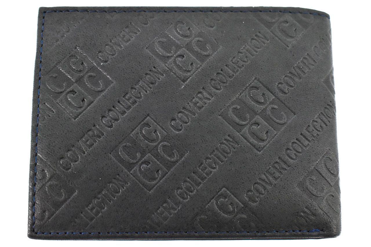 Pánská kožená peněženka Coveri Collection - tmavě šedá