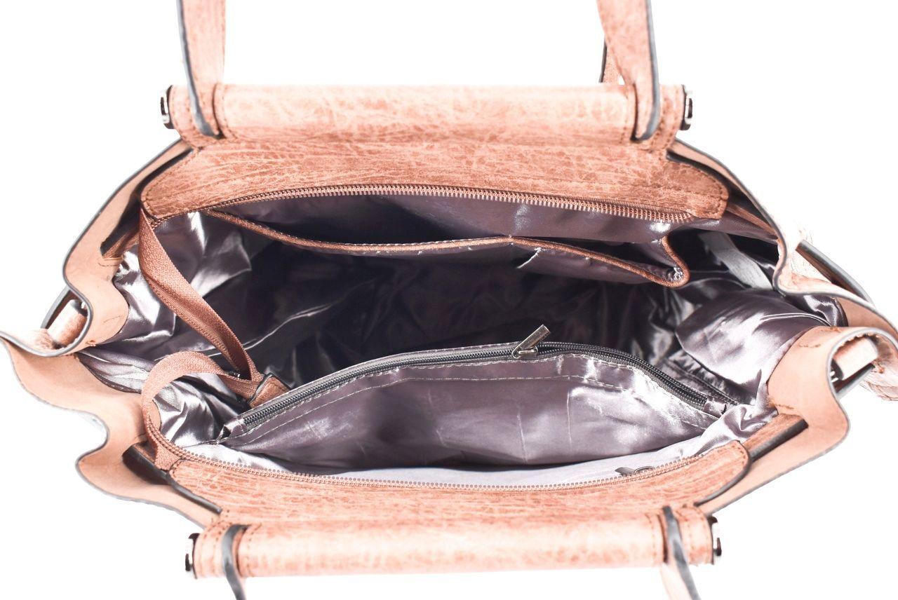 Dámská kabelka tmavě hnědá 35712