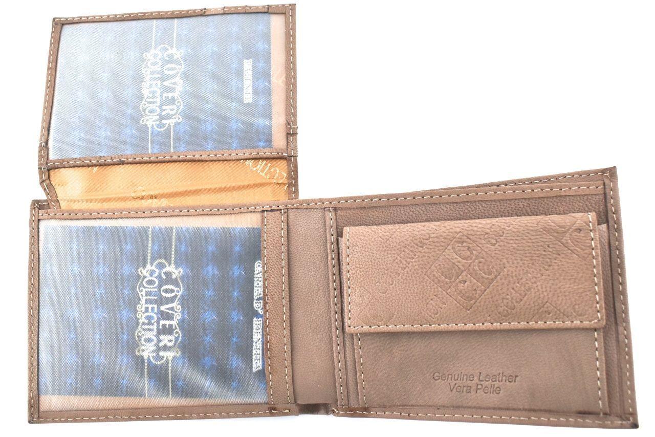 Pánská kožená peněženka Coveri Collection - béžová 33262