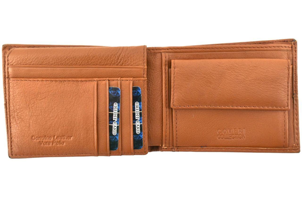 Pánská kožená peněženka Coveri Collection - hnědá 33263