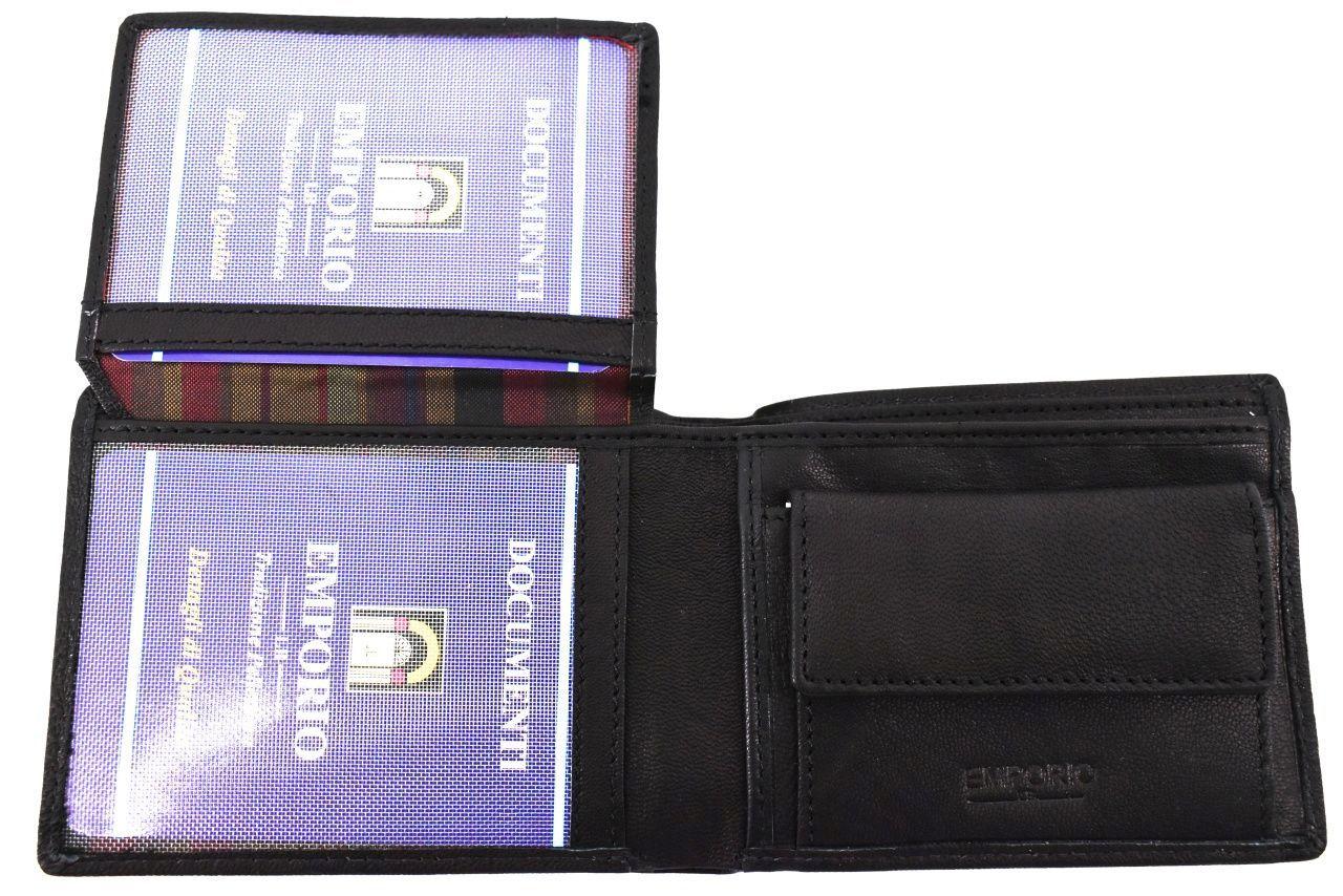 Pánská kožená peněženka Emporio - černá 36425