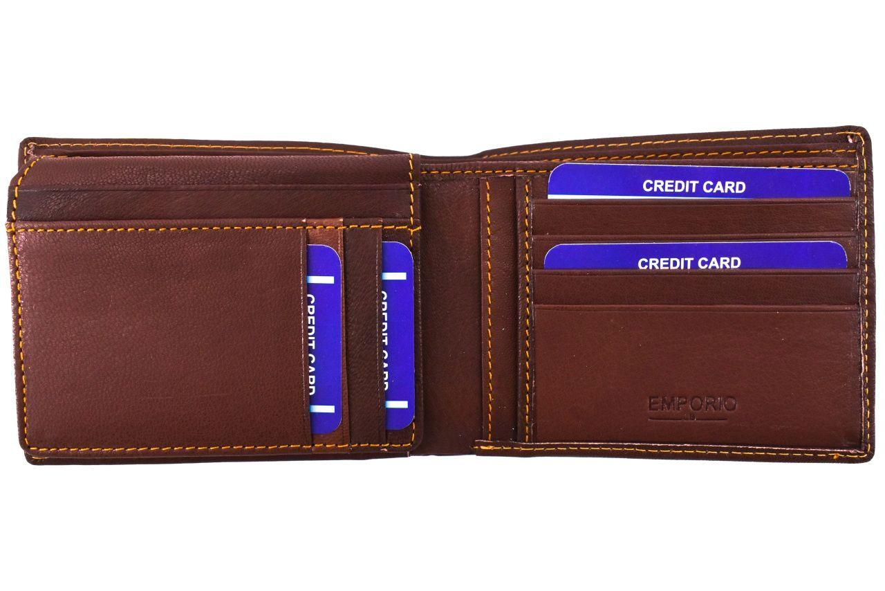 Pánská kožená peněženka / dokladovka Emporio - černá 36426
