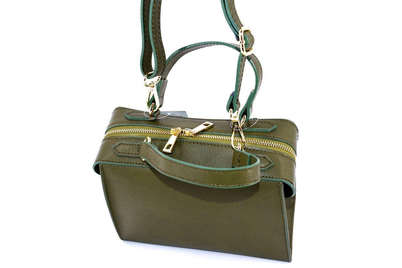 Dámská kožená kabelka Arteddy - zelená 33898