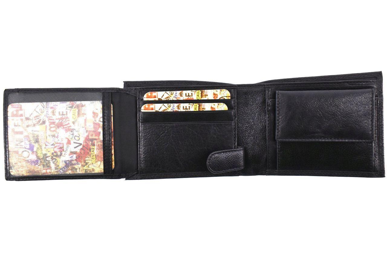 Pánská kožená peněženka Arteddy - černá 36771