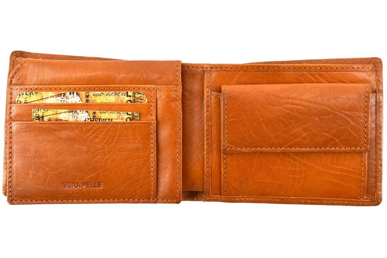 Pánská kožená peněženka Arteddy - camel 36783