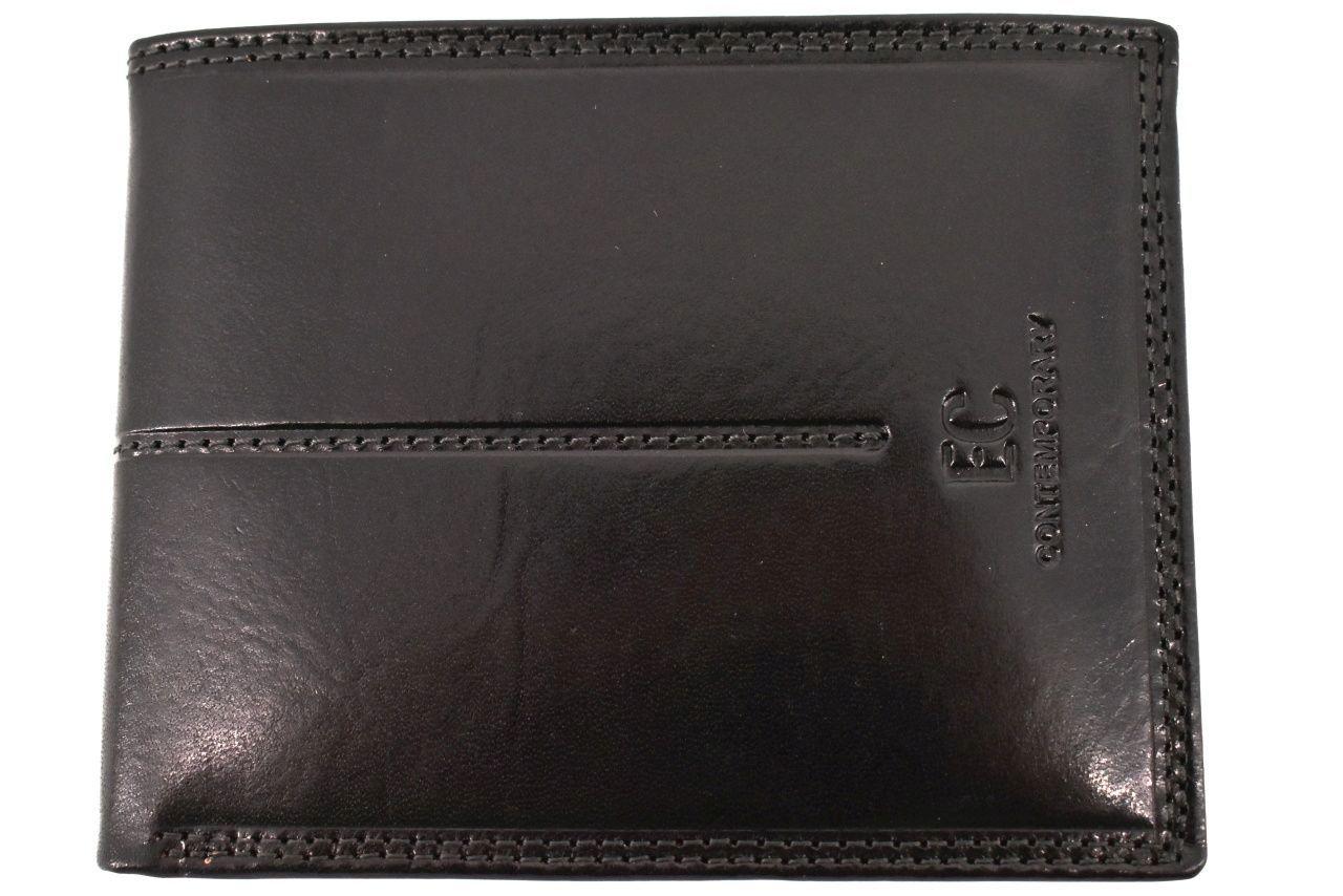 Pánská kožená peněženka na šířku Coveri - černá 31724