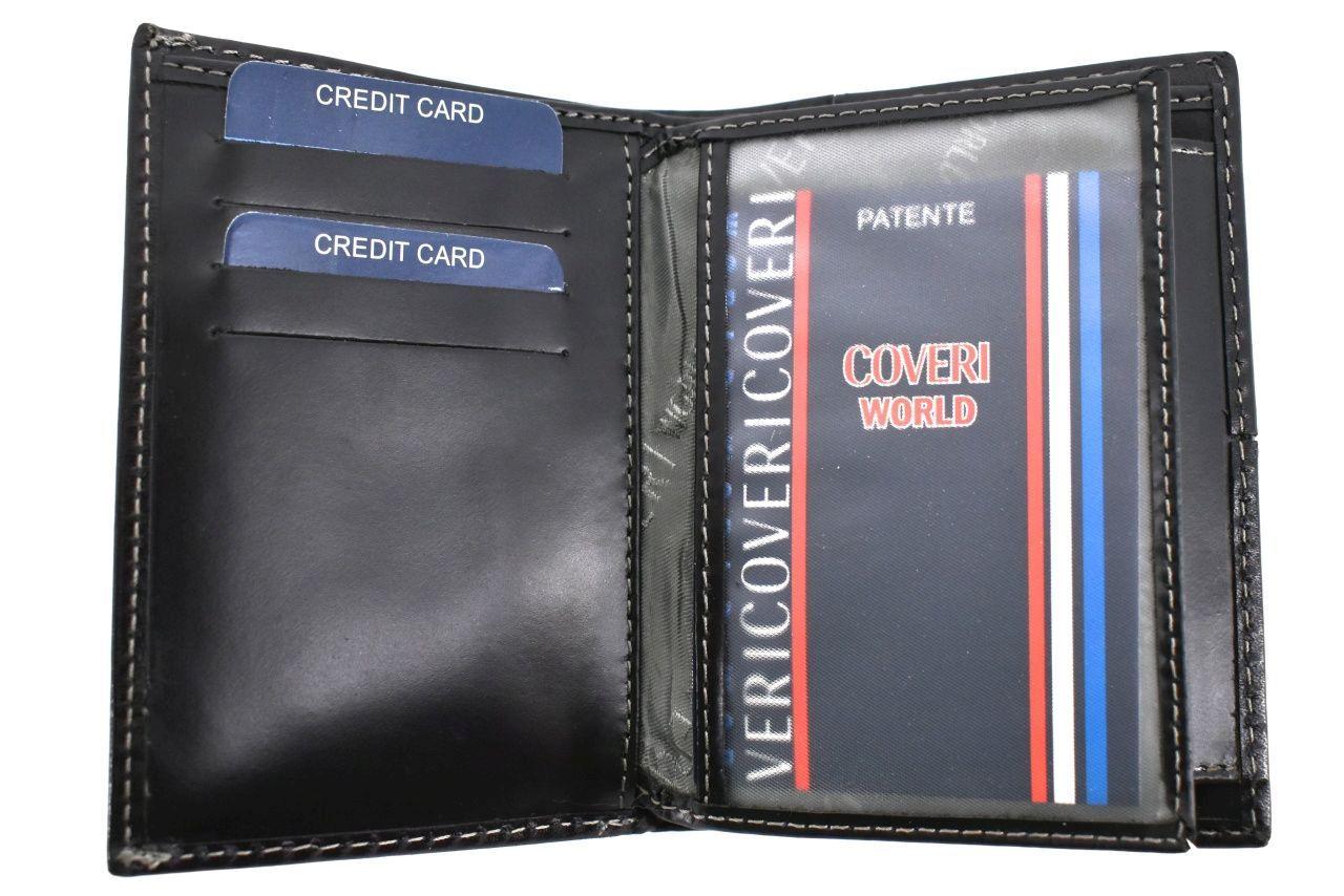 Pánská kožená peněženka na výšku Coveri World - černá 30054