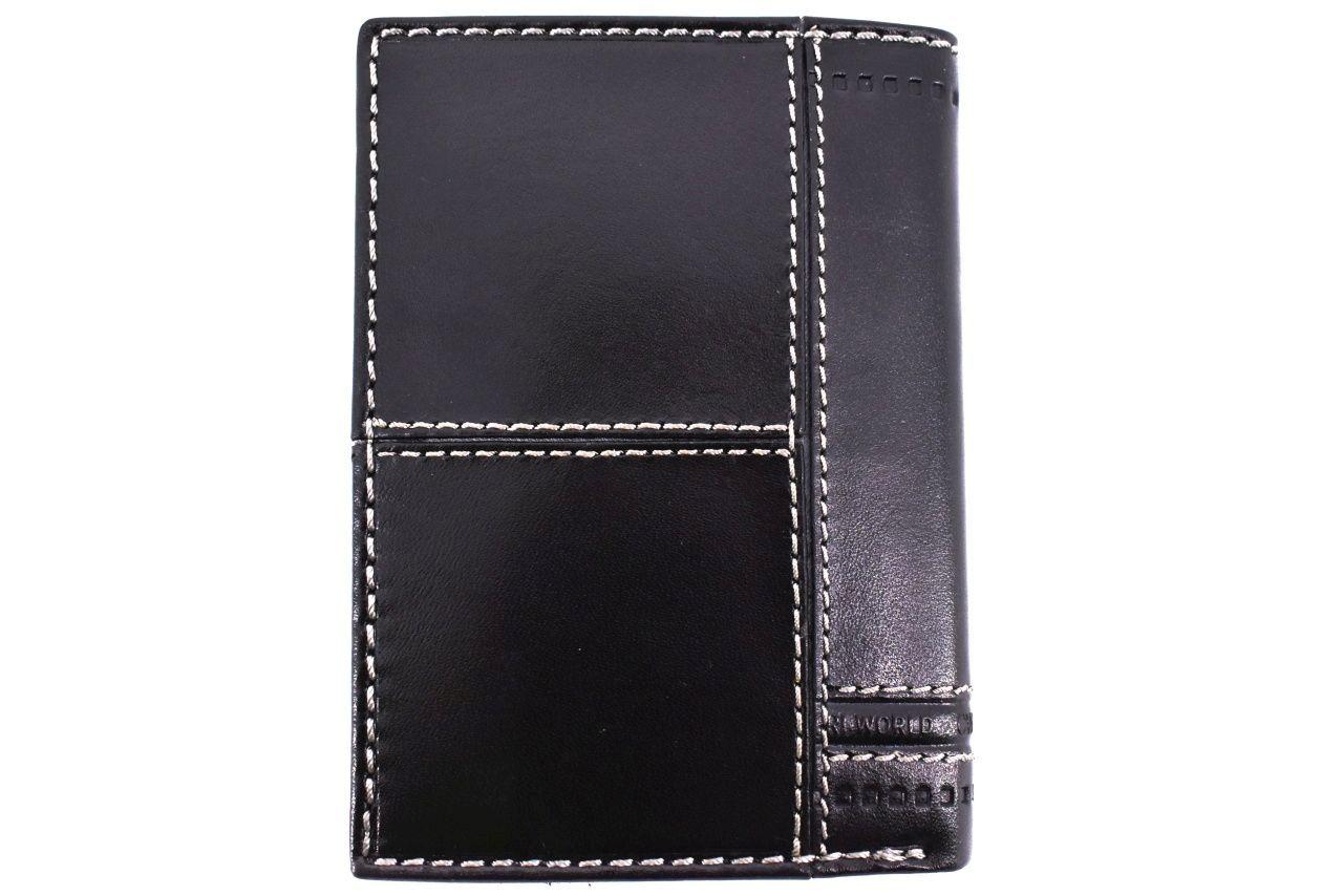 Pánská kožená peněženka na výšku Coveri World - černá