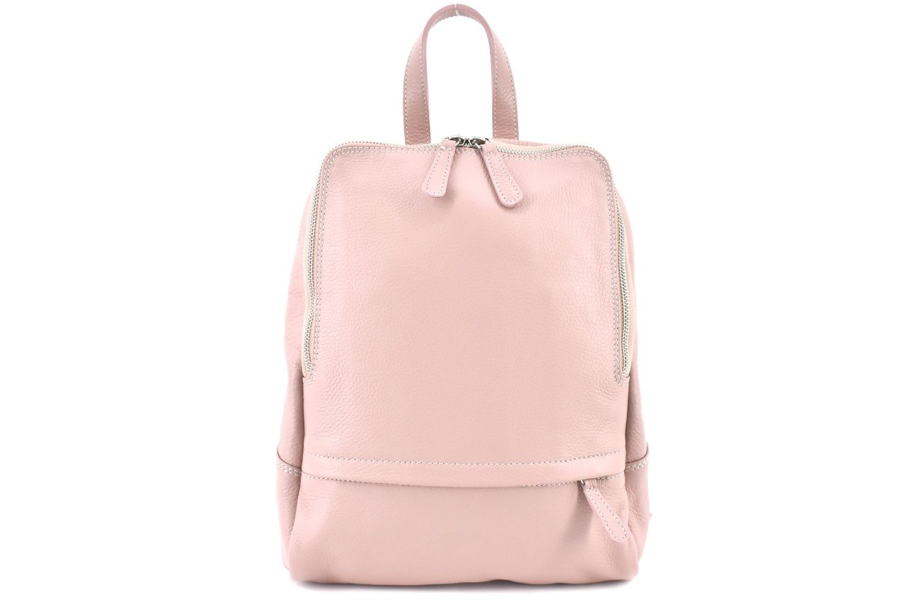 Dámský kožený batoh Arteddy - růžová/pudrová 36931