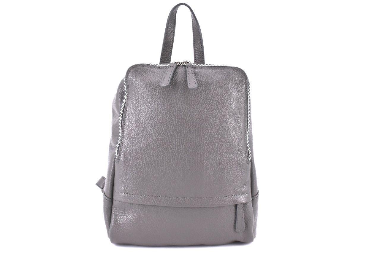 Dámský kožený batoh Arteddy - šedá 36931