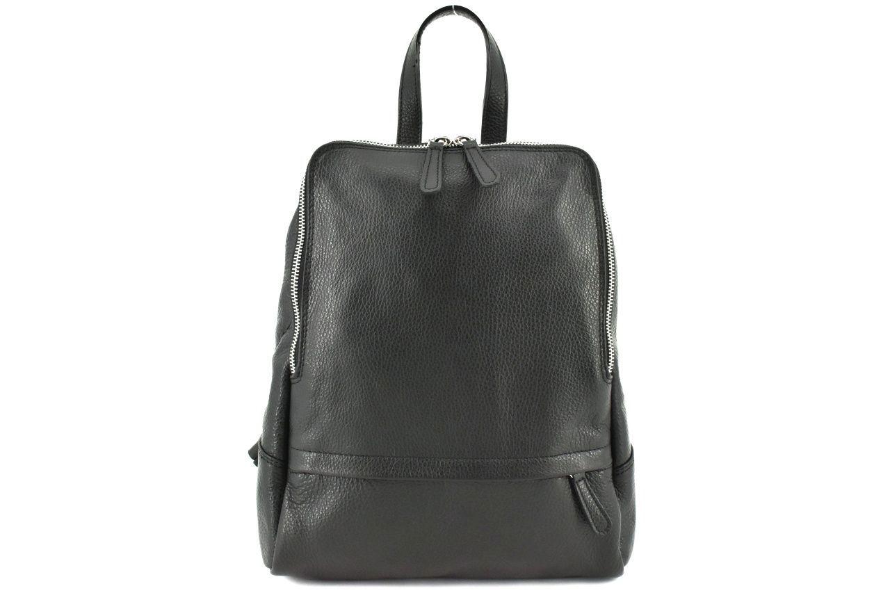 Dámský kožený batoh Arteddy - černá 36931