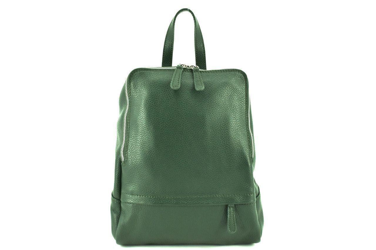 Dámský kožený batoh Arteddy - tmavě zelená 36931