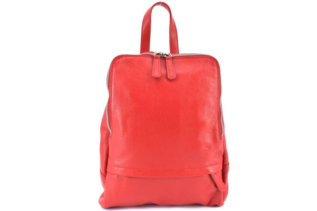 Dámský kožený batoh Arteddy - červená 36931