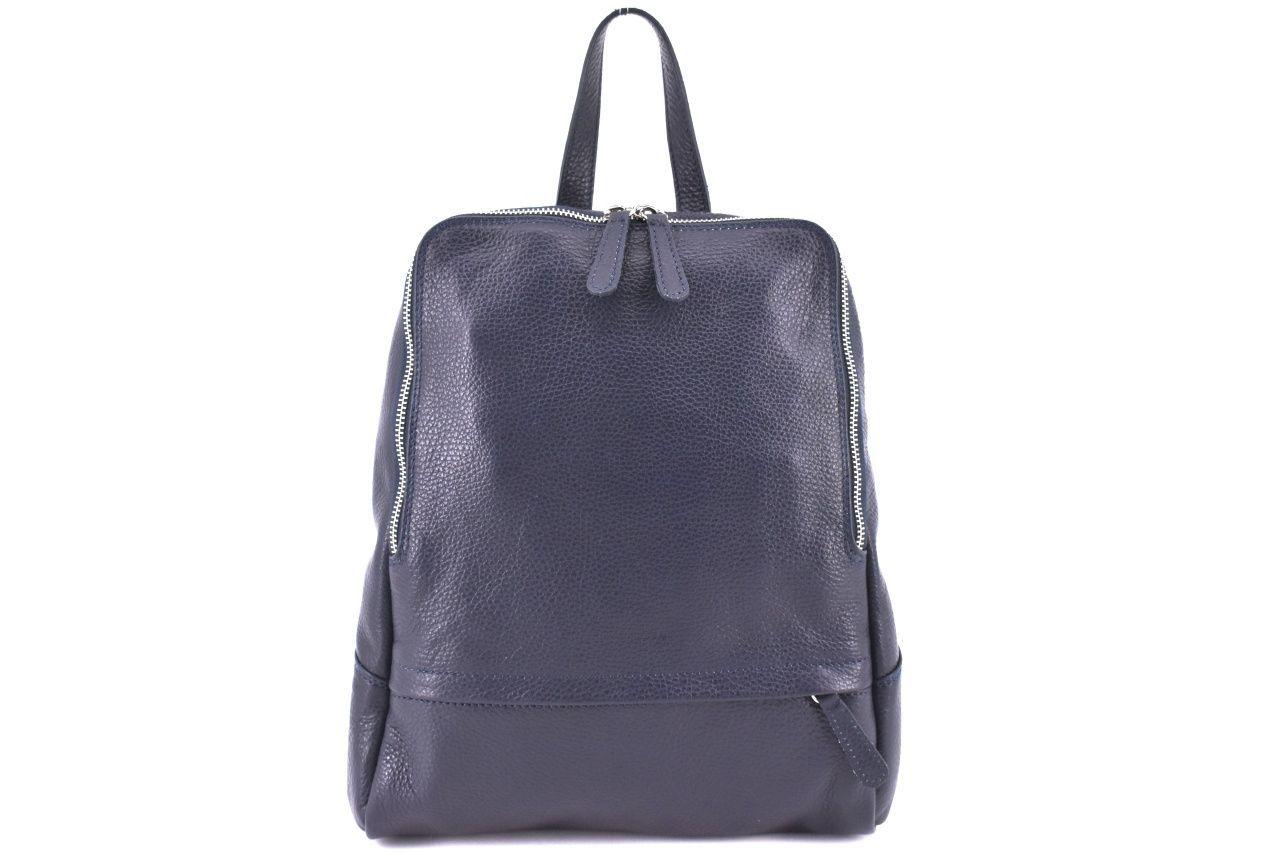 Dámský kožený batoh Arteddy - tmavě modrá 36931