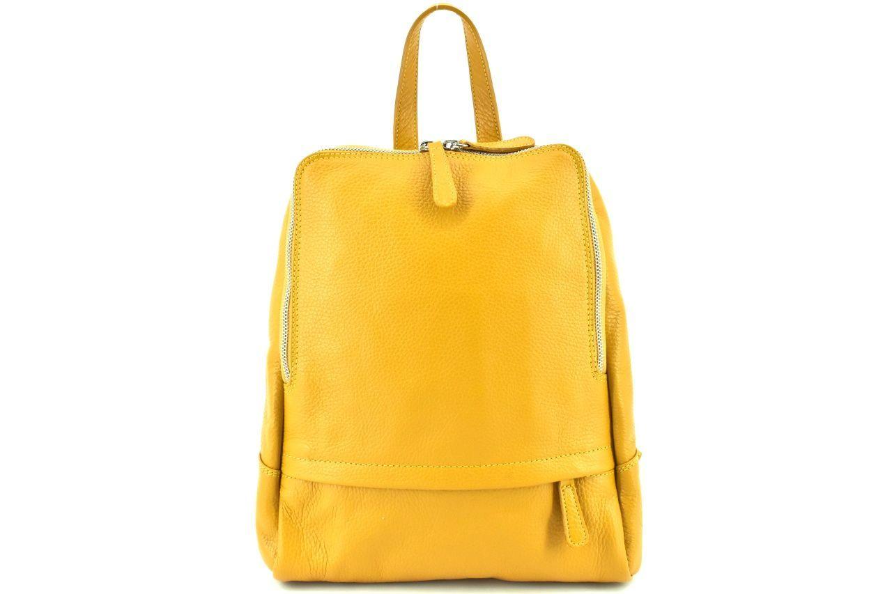 Dámský kožený batoh Arteddy - žlutá 36931
