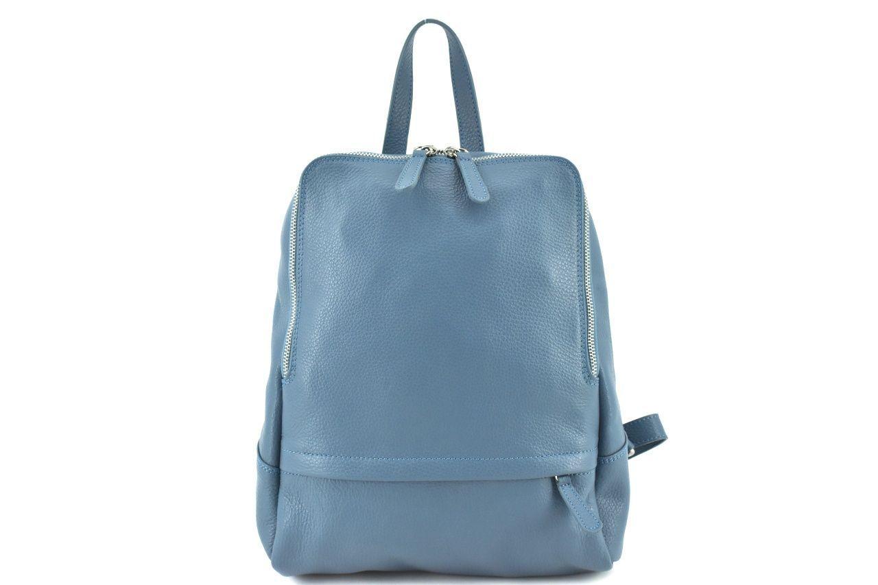 Dámský kožený batoh Arteddy - světle modrá 36931