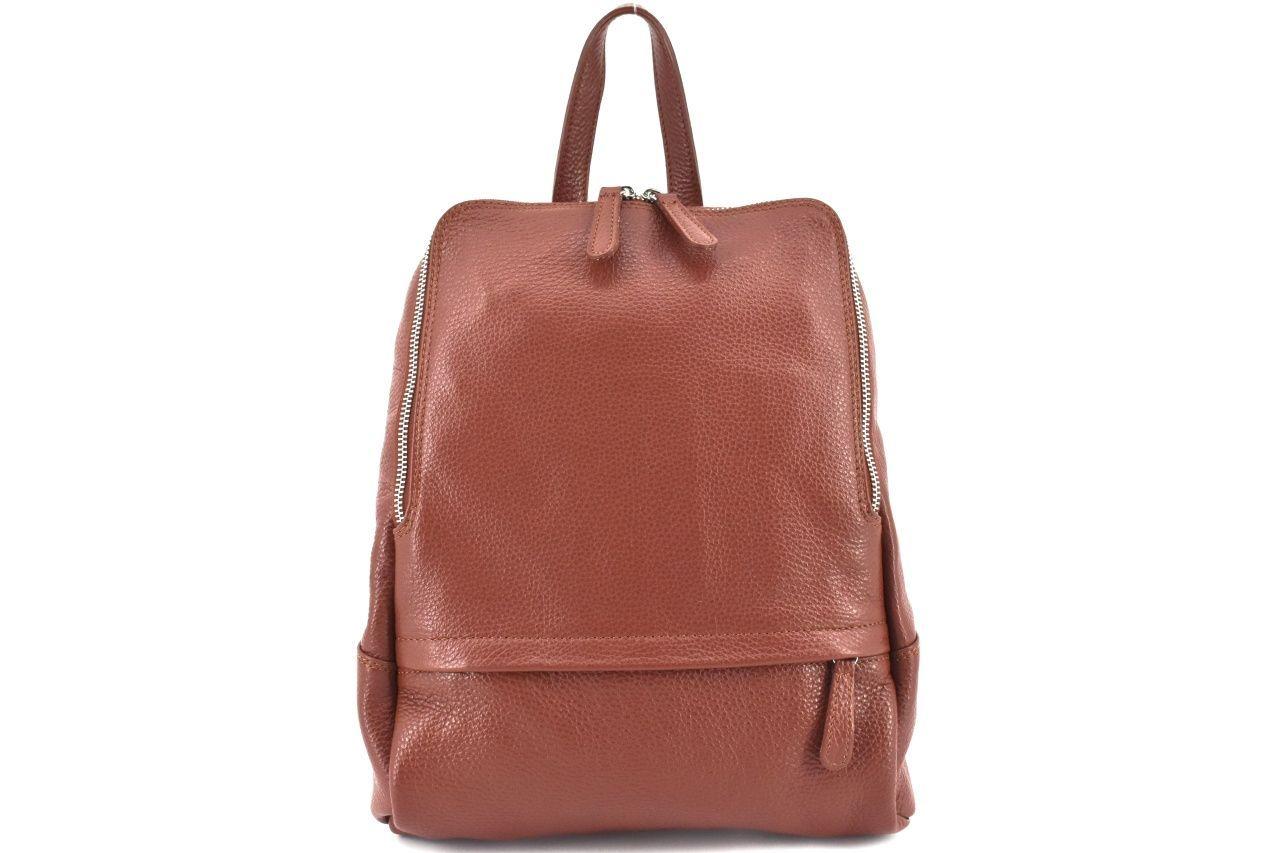 Dámský kožený batoh Arteddy - rezavá 36931