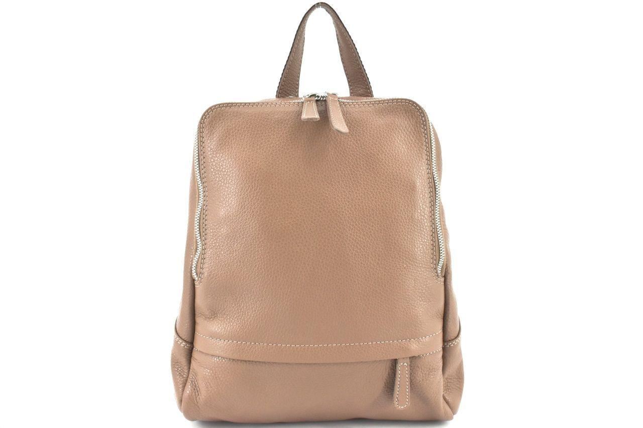 Dámský kožený batoh Arteddy - béžová 36931