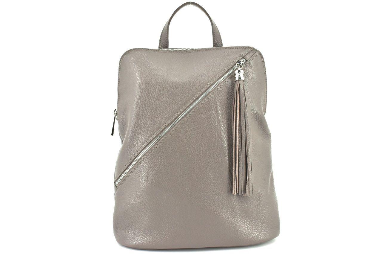 Dámský kožený batoh a kabelka v jednom /Arteddy - taupe 36932