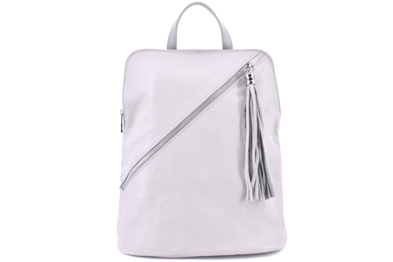 Dámský kožený batoh a kabelka v jednom /Arteddy - světle šedá 36932