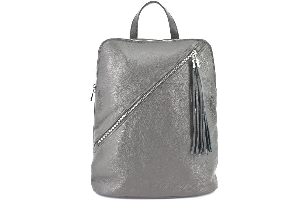 Dámský kožený batoh a kabelka v jednom /Arteddy - tmavě šedá 36932