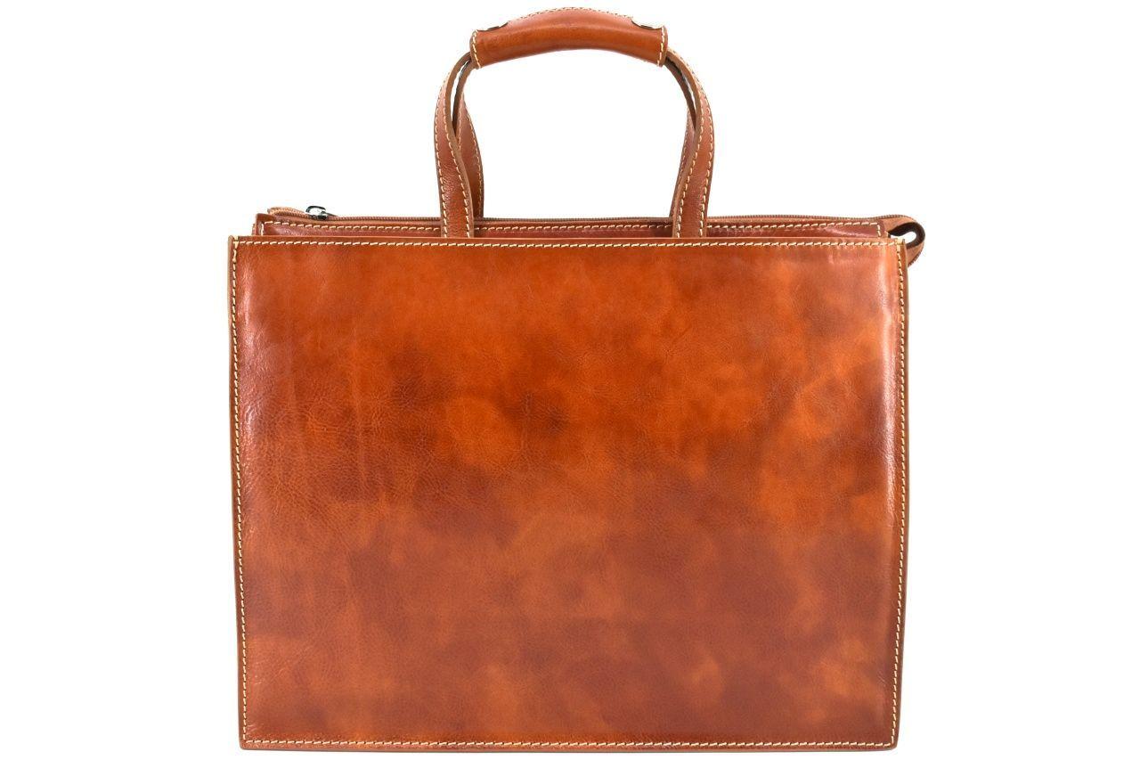 Dámská kožená kabelka Arteddy - koňak