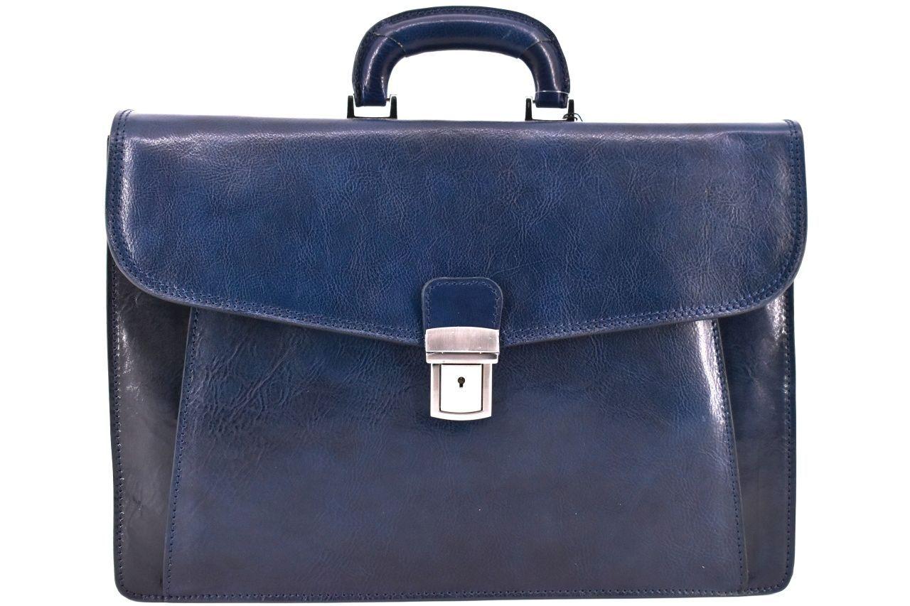 Kožená aktovka Arteddy - tmavě modrá 36961