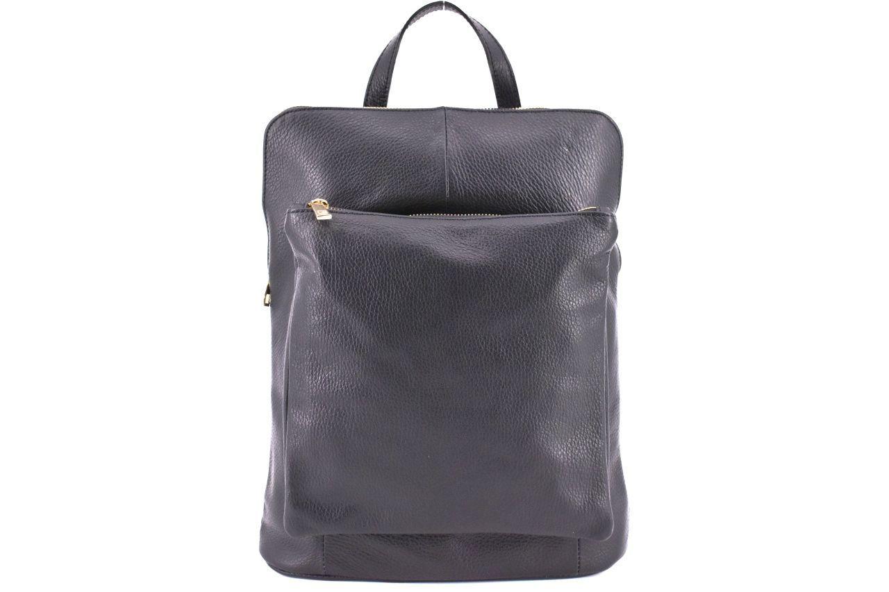 Dámský kožený batoh a kabelka v jednom / Arteddy - černá 36933