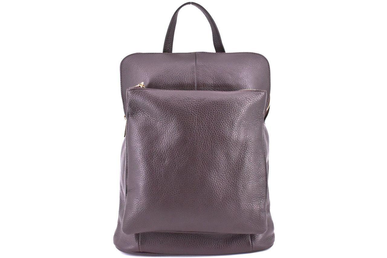 Dámský kožený batoh a kabelka v jednom / Arteddy - tmavě hnědá 36933