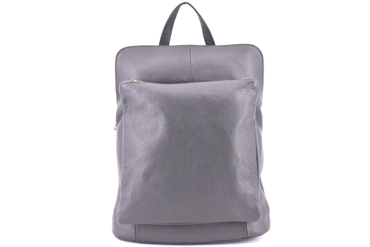 Dámský kožený batoh a kabelka v jednom / Arteddy - tmavě šedá 36933