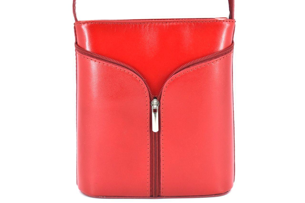 Dámská kožená kabelka crossbody Arteddy - červená 37124