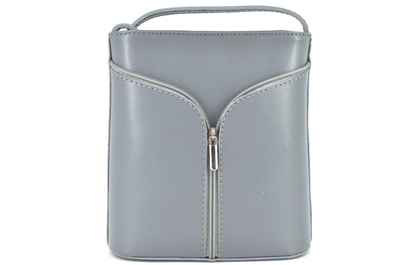 Dámská kožená kabelka crossbody Arteddy - šedá 37124