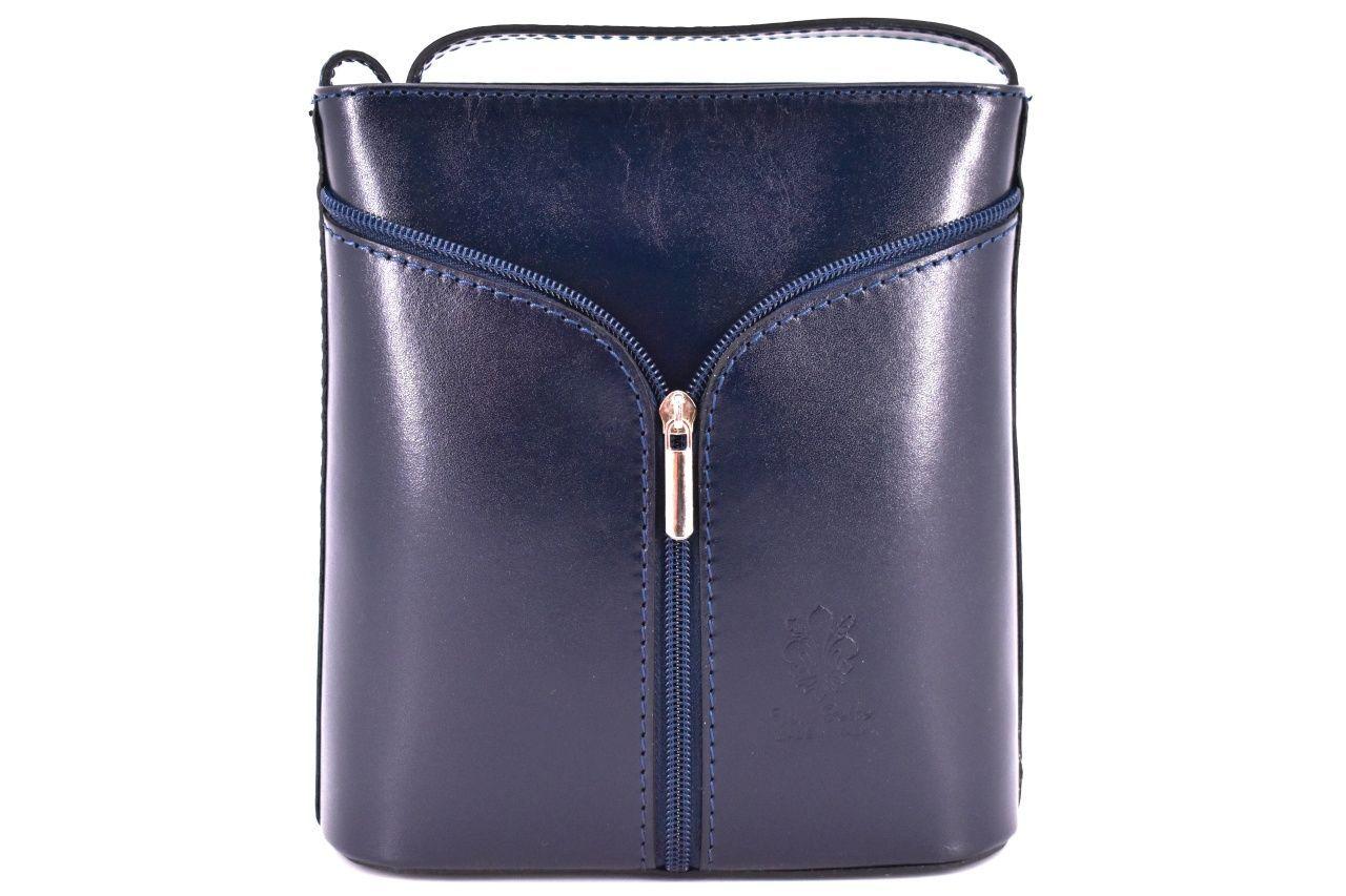 Dámská kožená kabelka crossbody Arteddy - tmavě modrá 37124