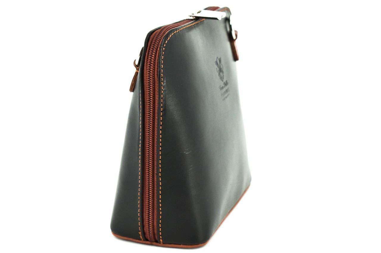 Dámská malá kožená kabelka crossbody Arteddy - camel/hnědá 36949