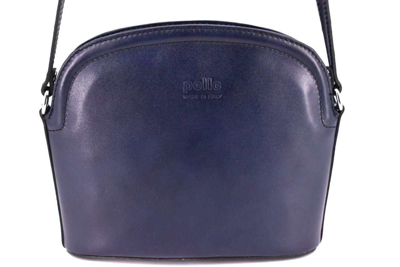 Dámská kožená kabelka crossbody Arteddy - tmavě modrá 38972