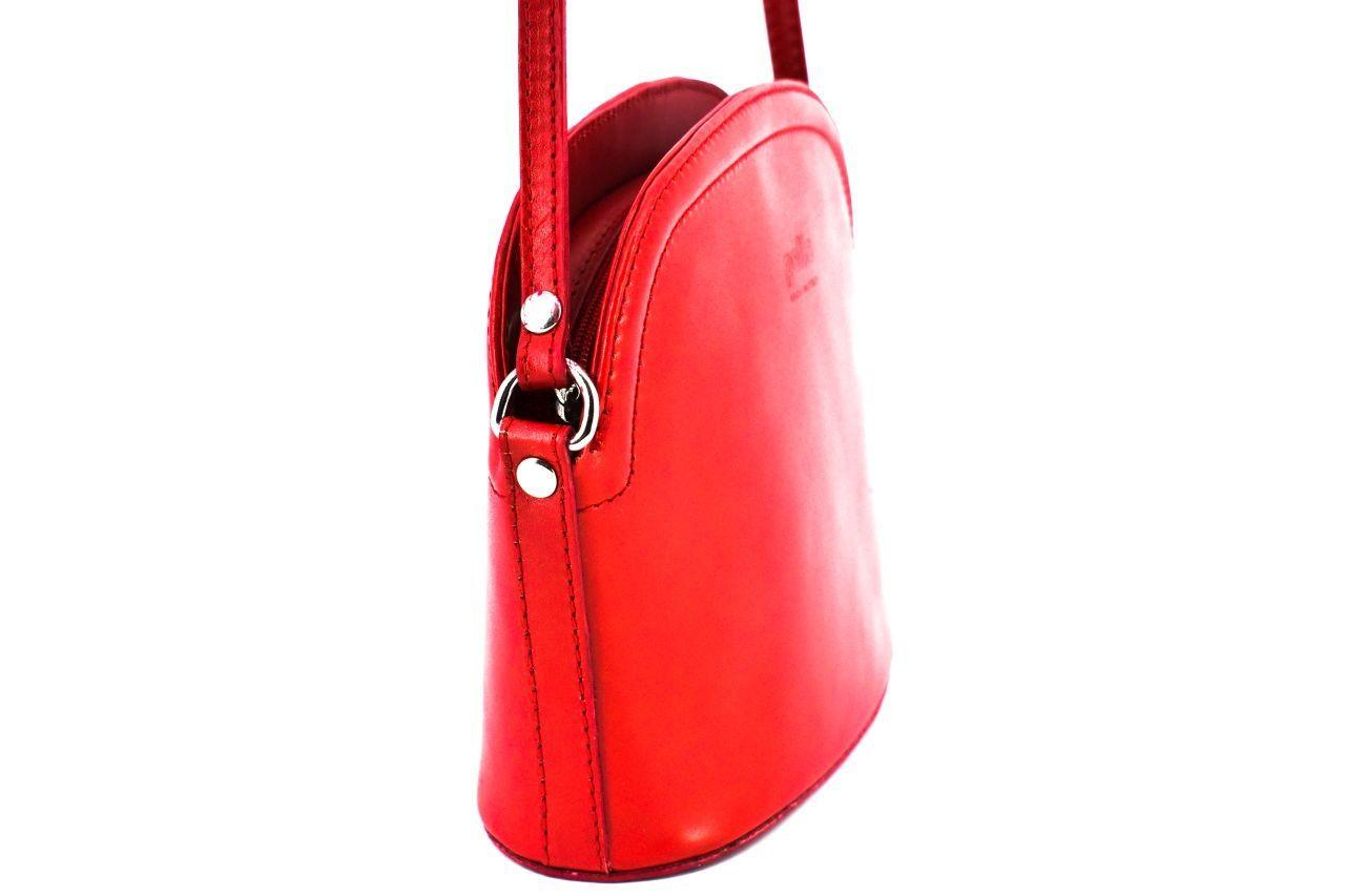 Dámská kožená kabelka crossbody Arteddy - tmavě hnědá 38972