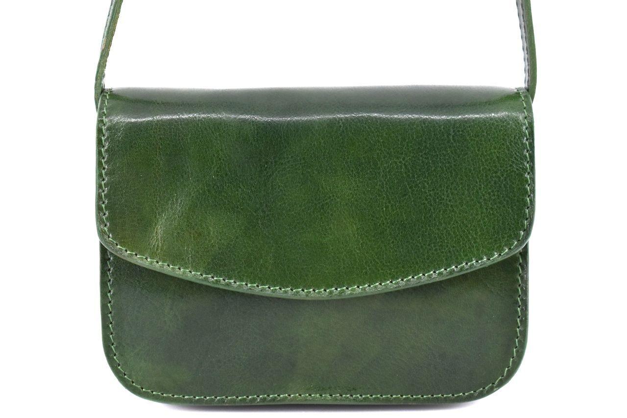 Dámská malá kožená kabelka crossbody (lovecká) Arteddy - zelená 37126