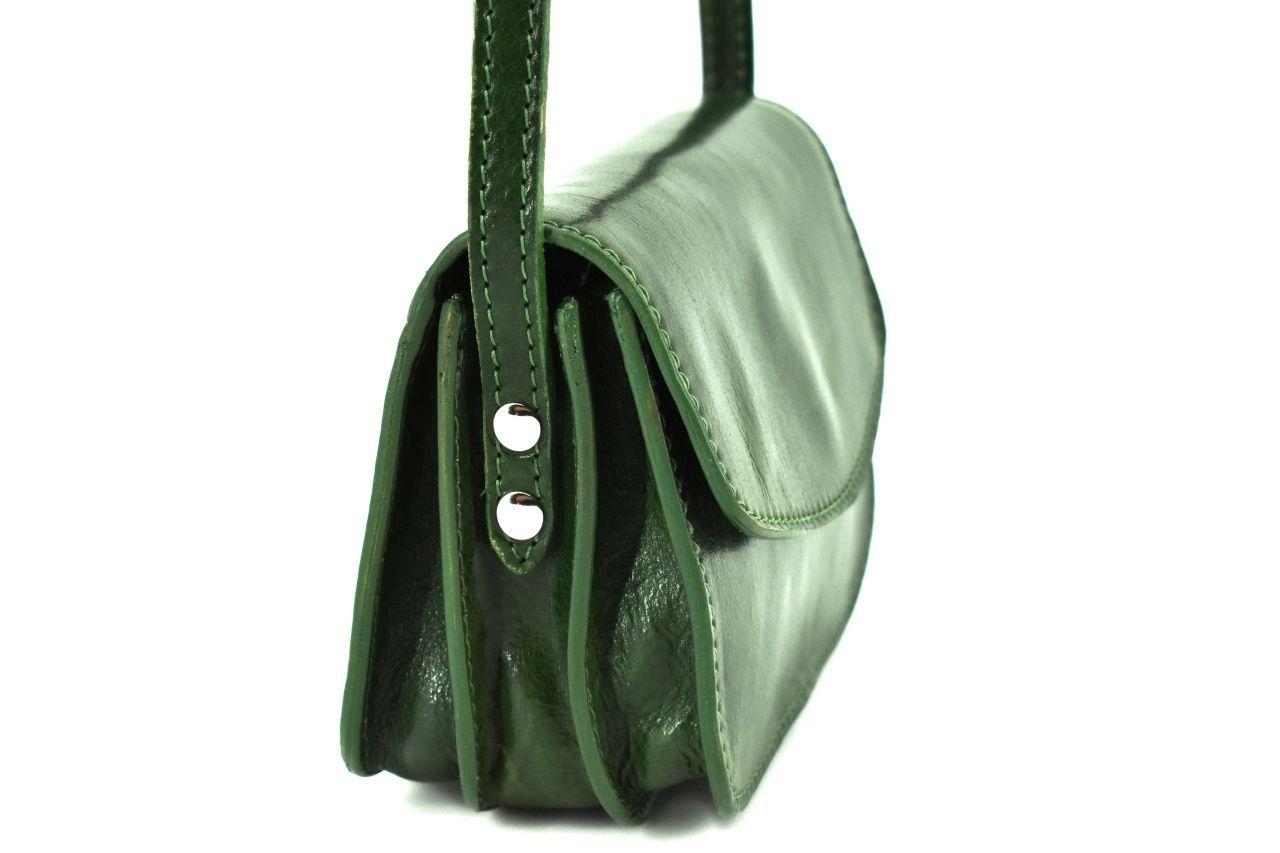 Dámská malá kožená kabelka crossbody (lovecká) Arteddy - tmavě modrá 37126