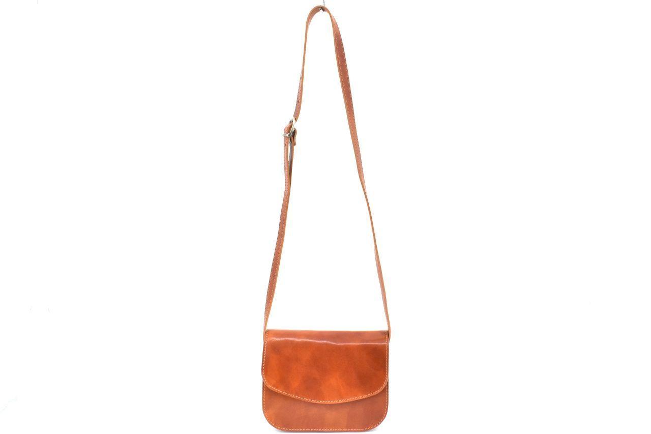 Dámská kožená kabelka crossbody (lovecká) Arteddy - červená 37127