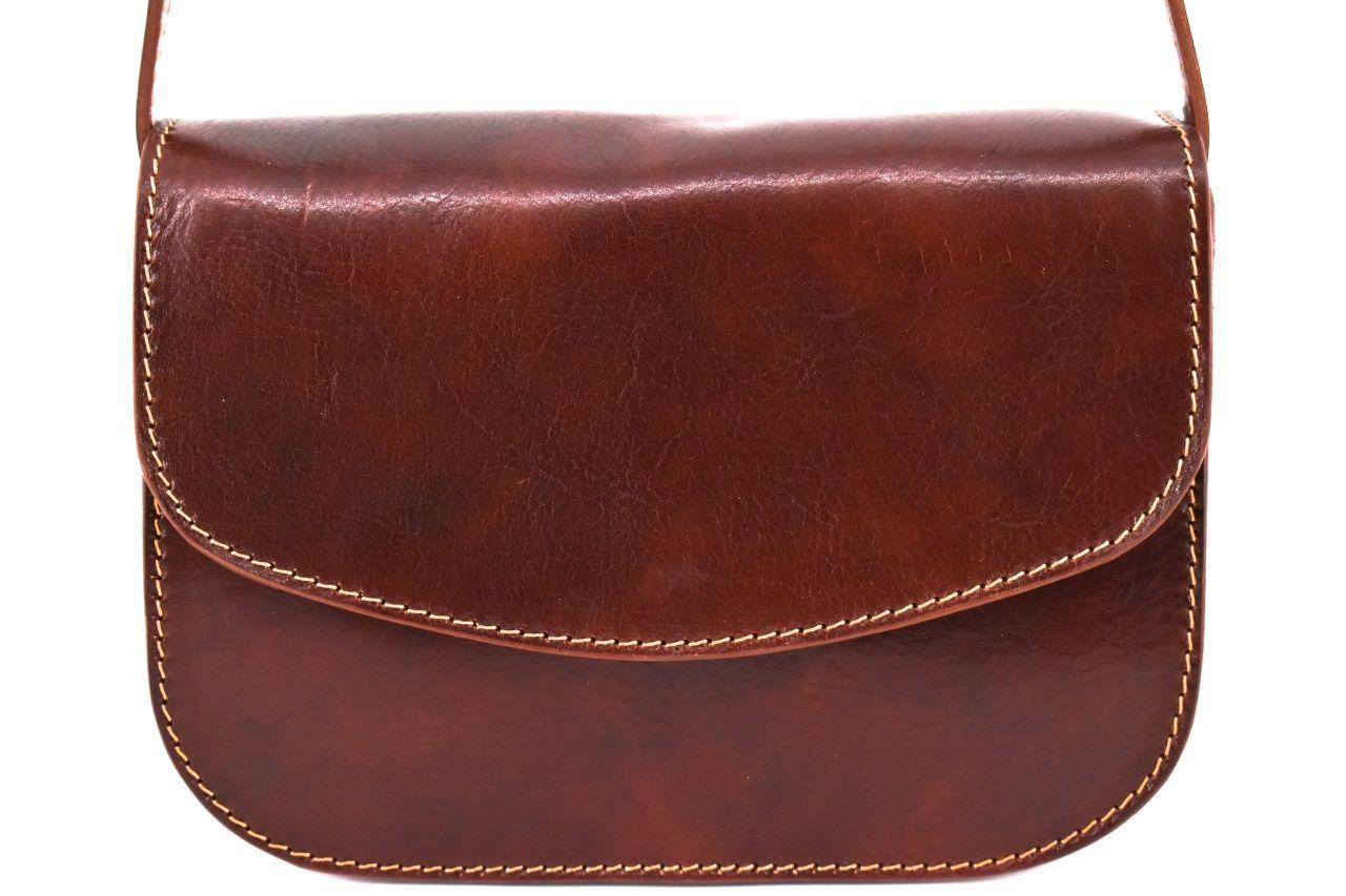 Dámská kožená kabelka crossbody (lovecká) Arteddy - hnědá 37127