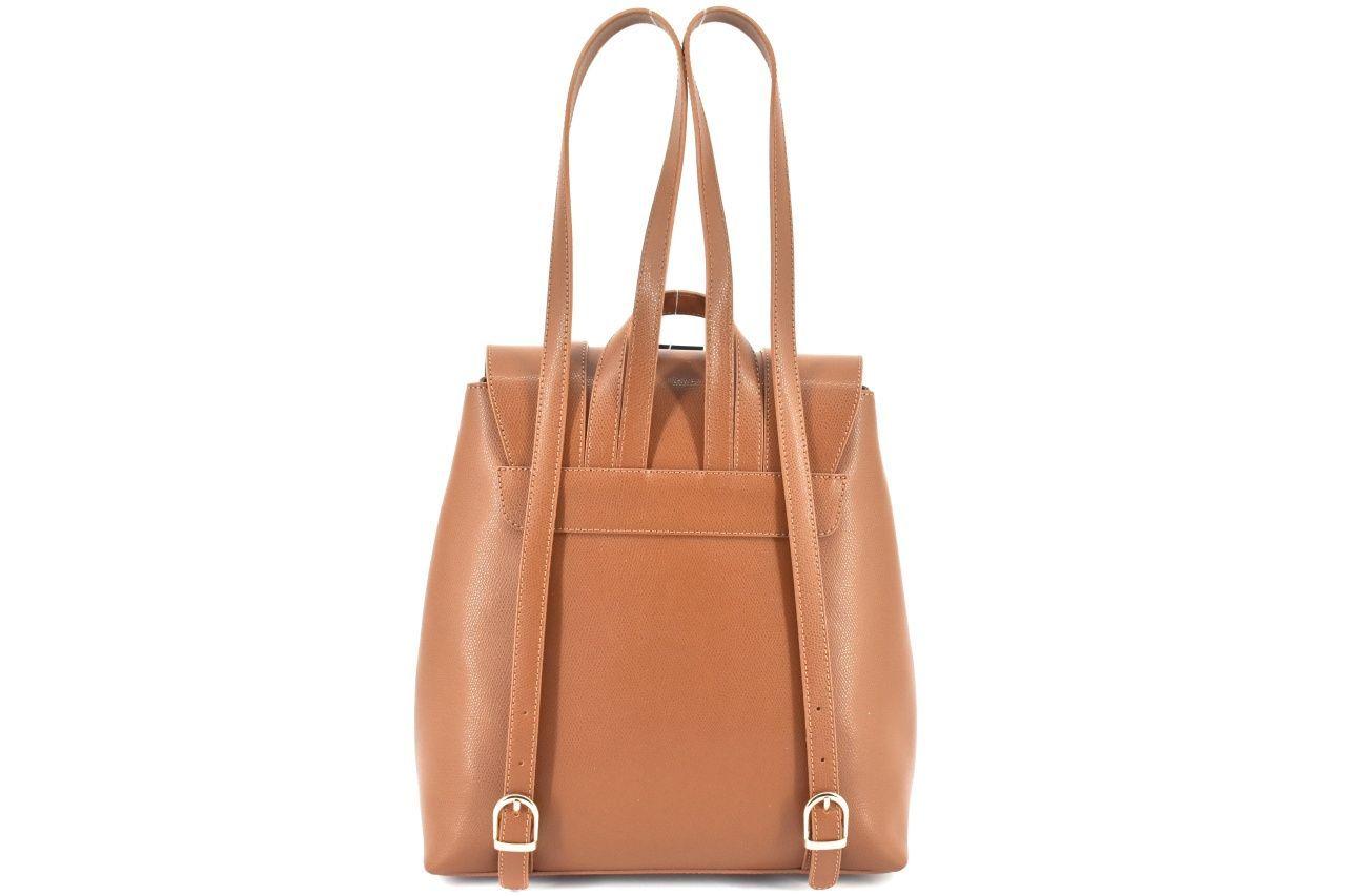 Dámský kožený batoh s klopnou Arteddy - červená 38961