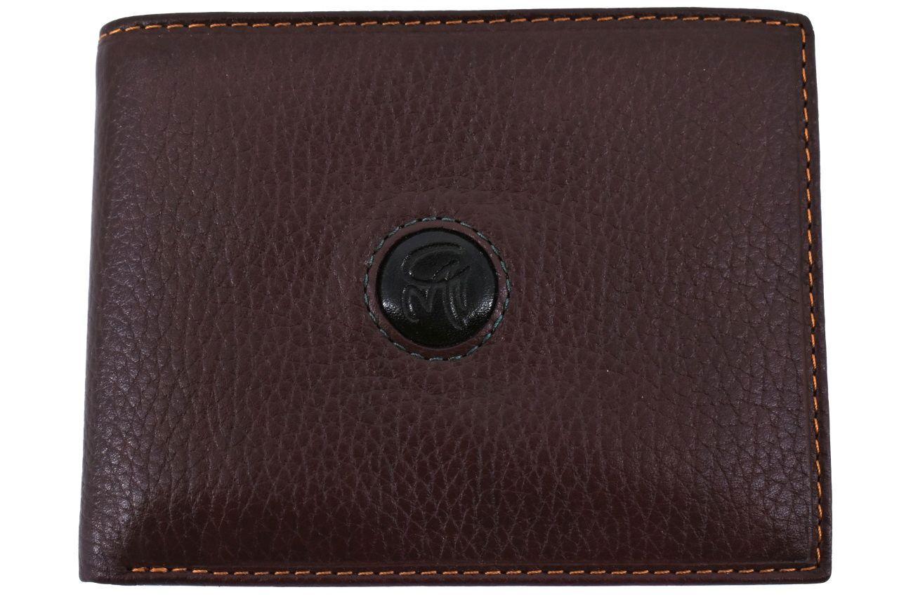 Pánská kožená peněženka na šířku Gai Mattiolo - hnědá 25535