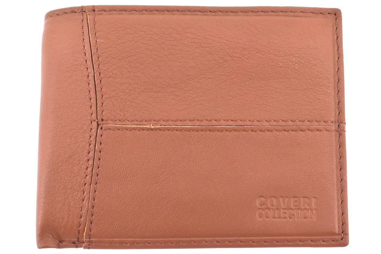 Pánská kožená peněženka na šířku Coveri - hnědá 31752