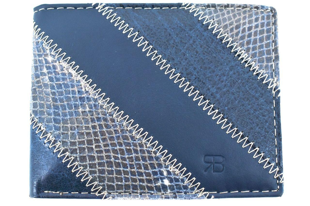 Pánská kožená peněženka na šířku Renato Balestra - modrá 1 22374