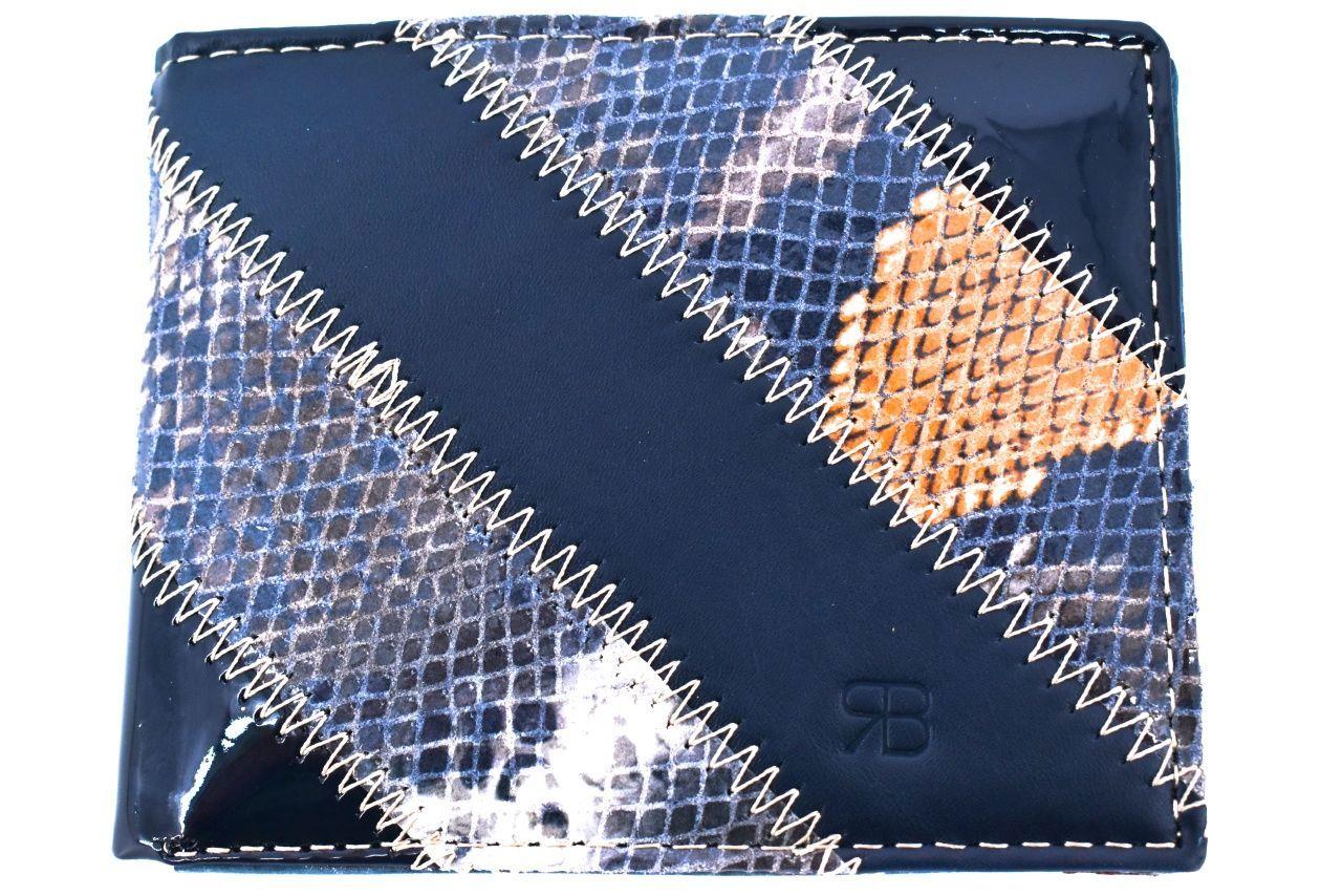 Pánská kožená peněženka na šířku Renato Balestra - modrá 2 22374