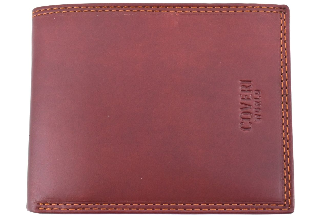Pánská kožená peněženka Coveri World - hnědá 31728