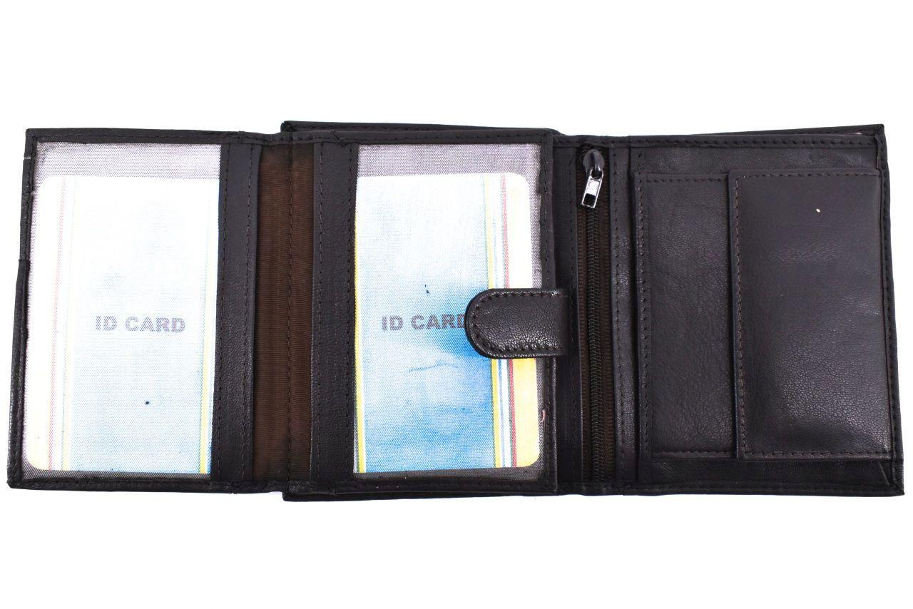 Pánská kožená peněženka na výšku Arteddy - tmavě modrá 35292